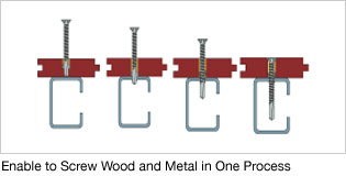 Enable to Screw Wood and Metal in One Process
